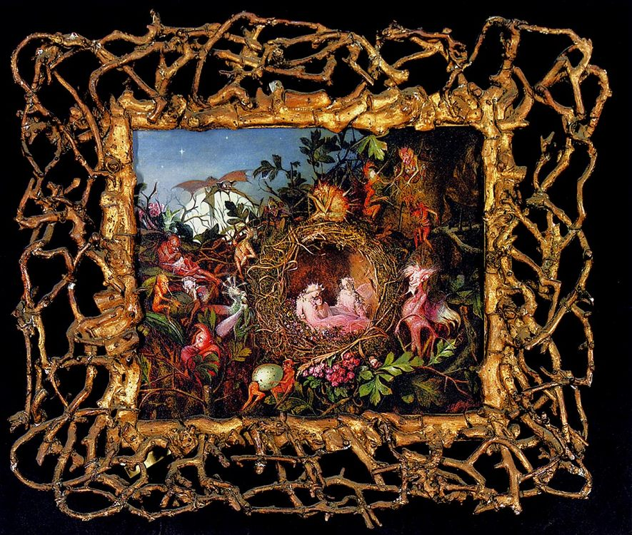 Fairies In A Bird's Nest  :: John Anster Fitzgerald - Fantasy in art and painting фото