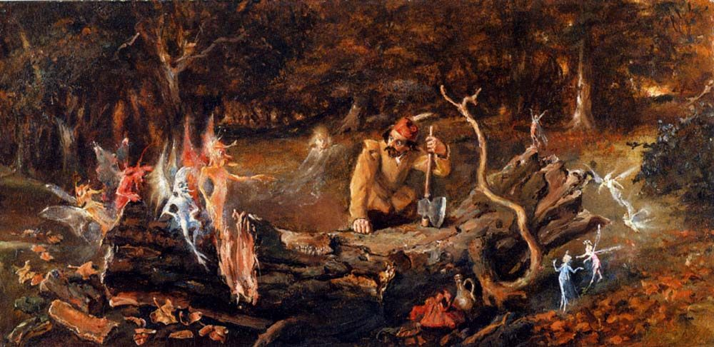 The Woodcutters Misfortune :: John Anster Fitzgerald  - Fantasy in art and painting фото