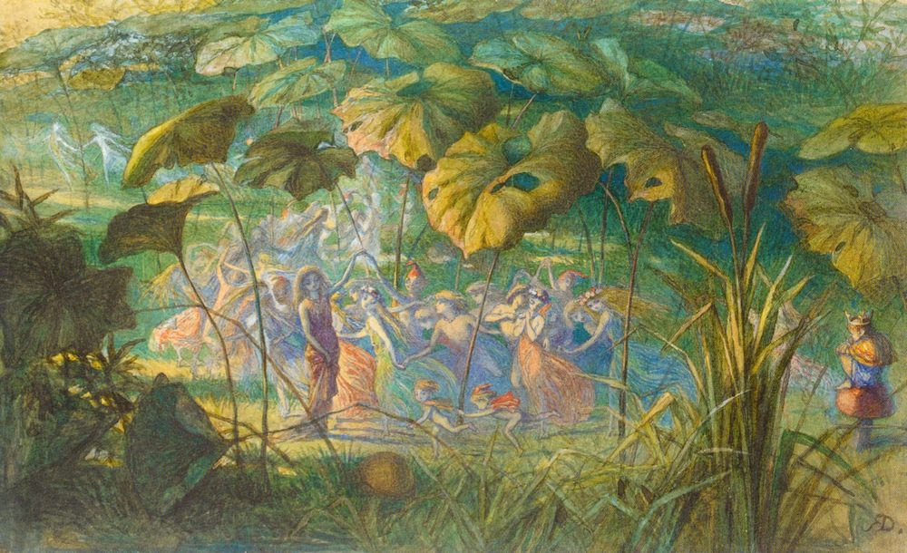 In Fairy Land- An Elfin Dance :: Richard Doyle - Fantasy in art and painting фото