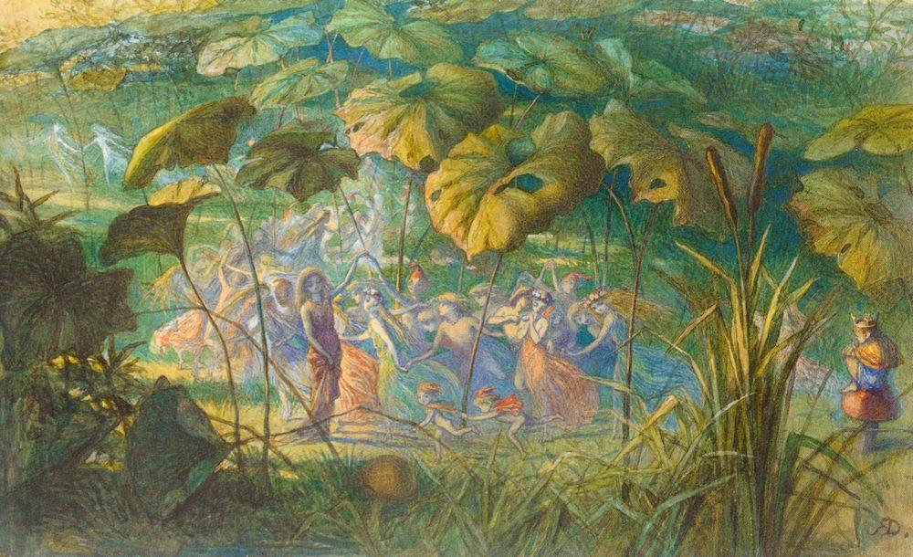 In Fairy Land- An Elfin Dance :: Richard Doyle - Fantasy in art and painting ôîòî