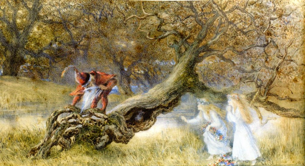 Snow White and Rose Red :: Richard Doyle - Fantasy in art and painting фото