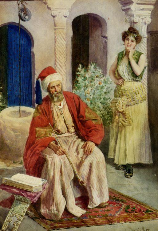 A Quiet Retreat :: Antonio Gargiullo - scenes of Oriental life (Orientalism) in art and painting ôîòî