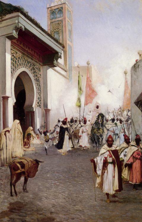 Entering Constantinople :: Benjamin Jean Joseph Constant - scenes of Oriental life ( Orientalism) in art and painting фото