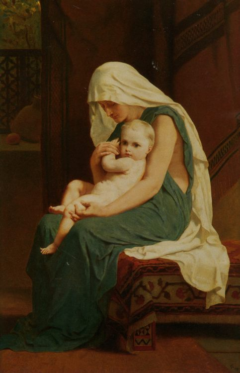 Mother and Child :: Frederick Goodall - Woman and child in painting and art фото