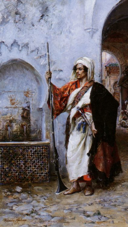 Arab Warrier :: Raimundo de Madrazo y Garreta  - scenes of Oriental life (Orientalism) in art and painting ôîòî