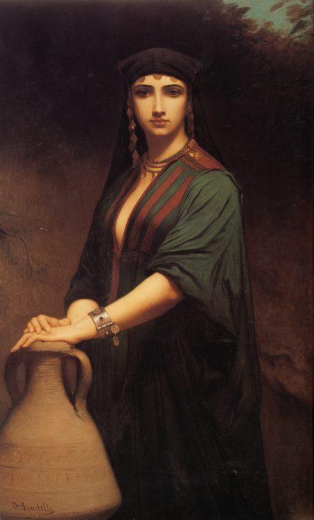 Female Fellah :: Charles Zacharie Landelle - Antique beauties in art and painting фото