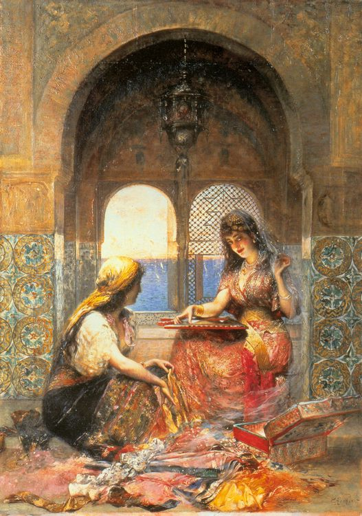The Final Decision :: Edouard Frederic Wilhelm Richter - Arab women ( Harem Life scenes ) in art  and painting фото