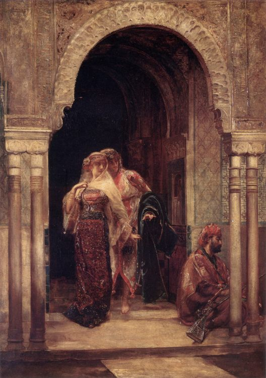 The Fugitives :: Edouard Frederic Wilhelm Richter - Arab women ( Harem Life scenes ) in art  and painting фото