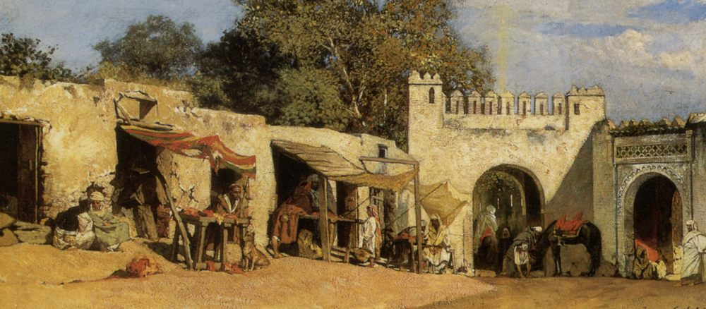 An Arab Market :: Benjamin Jean Joseph Constant - scenes of Oriental life ( Orientalism) in art and painting фото