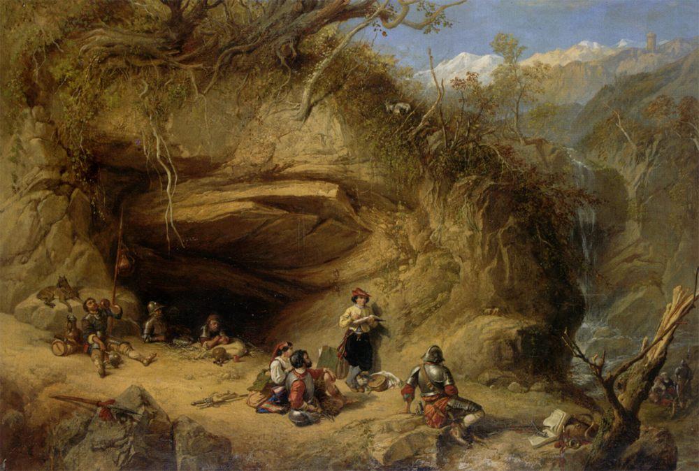 Scene Near Zeldkirch In The Tyrol :: Clarkson Stanfield  - History painting фото