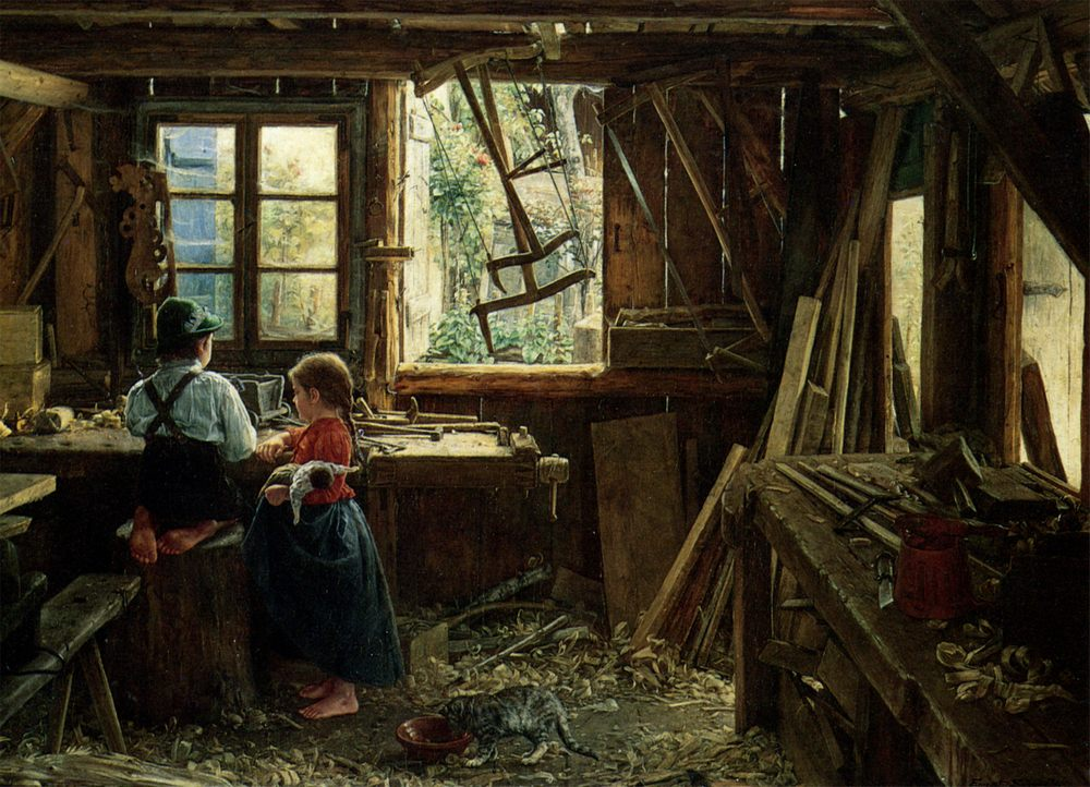 In workshop :: Ernst Schmitz  - Village life ôîòî