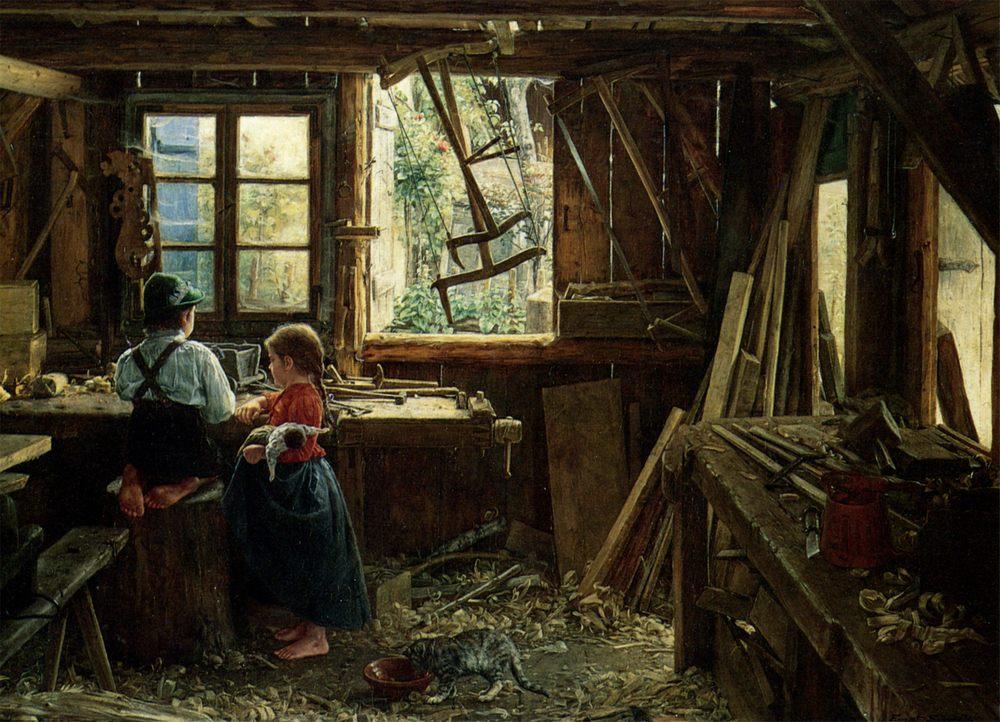 In workshop :: Ernst Schmitz  - Village life фото
