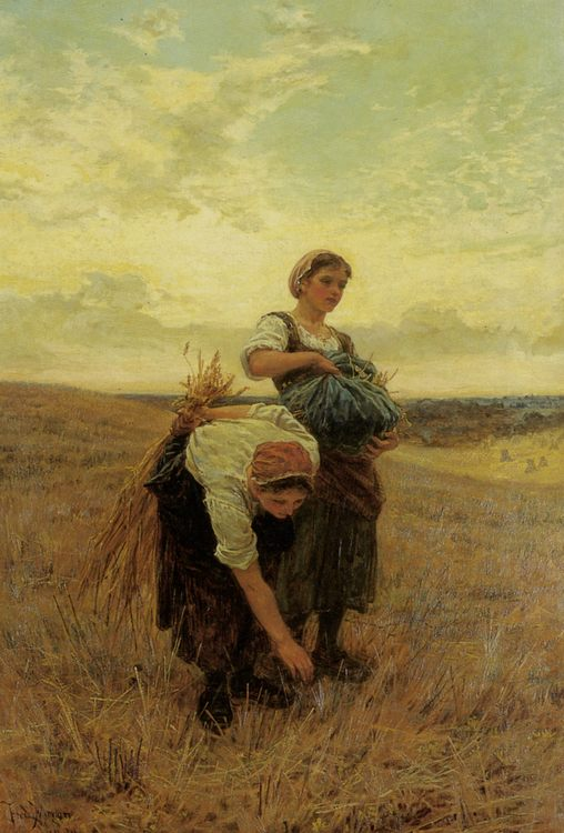 The Gleaners :: Frederick Morgan - Village life фото