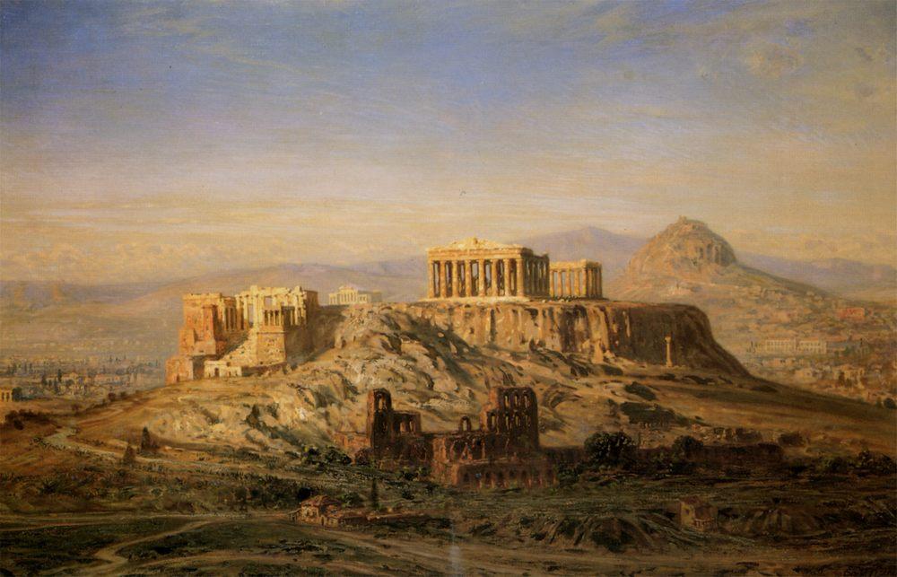 The Acropolis Athena :: Ernst Carl Eugen Koerner - Ruins ôîòî