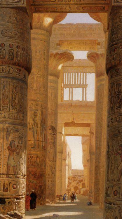 The Temple of Karnak :: Ernst Carl Eugen Koerner - Architecture фото