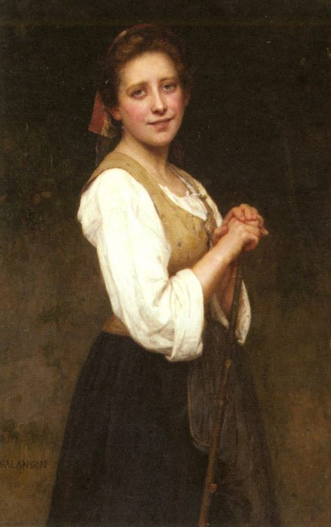 A Young Shepherdess :: Eugenie Marie Salanson - 7 female portraits ( the end of 19 centuries ) in art and painting фото