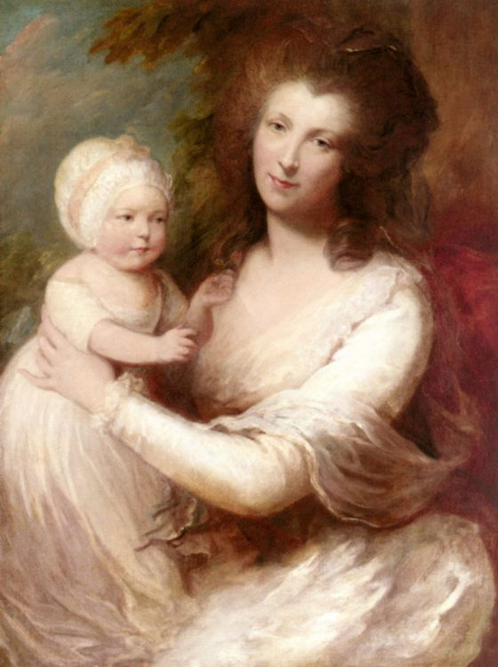 Portrait of Lady Baillie :: Gainsborough Dupont  - Woman and child in painting and art фото