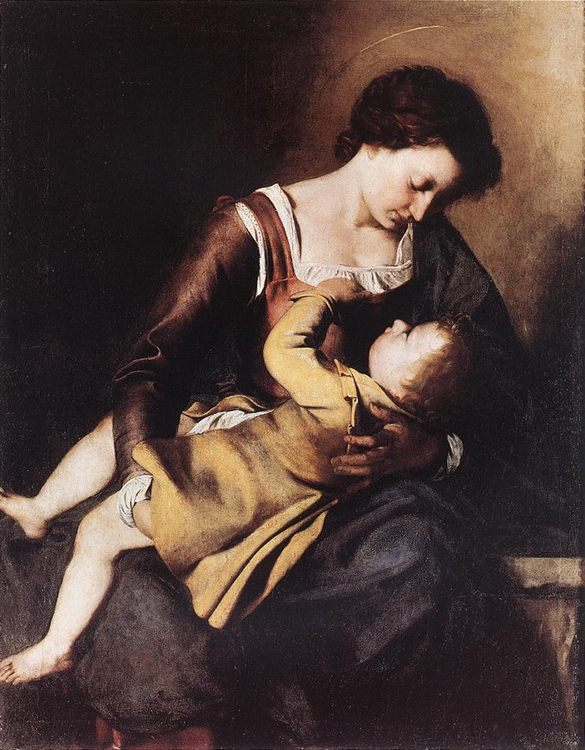 Madonna :: Orazio Gentleschi - Woman and child in painting and art фото