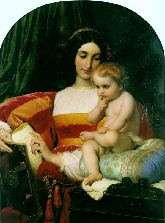 The Childhood of Pico della Mirandola :: Paul Delaroche - Woman and child in painting and art фото