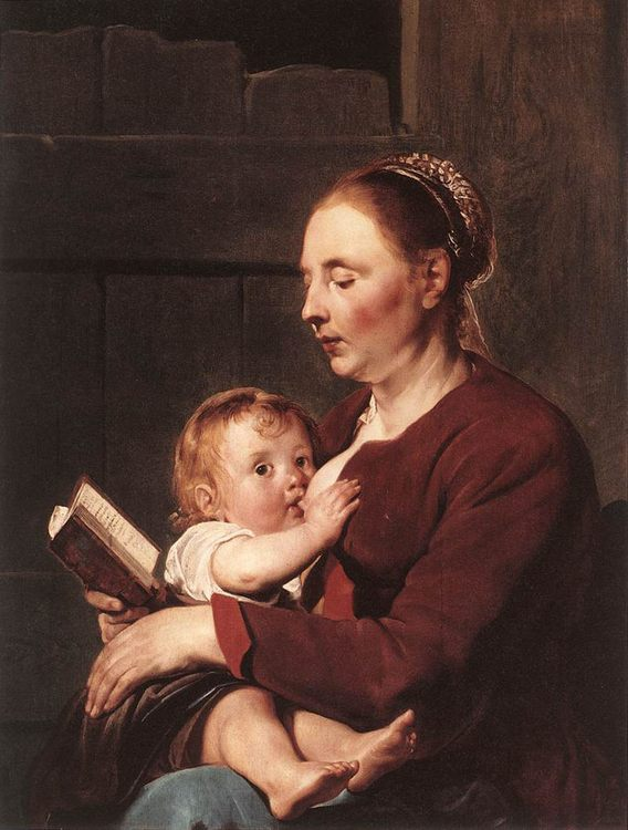 Mother and Child :: Pieter de Grebber - Woman and child in painting and art фото