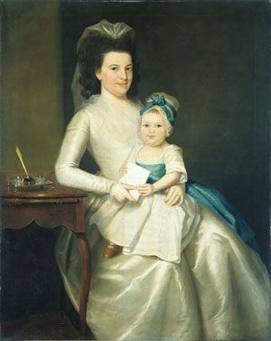 Lady Williams and Child :: Ralph Earl - Woman and child in painting and art фото