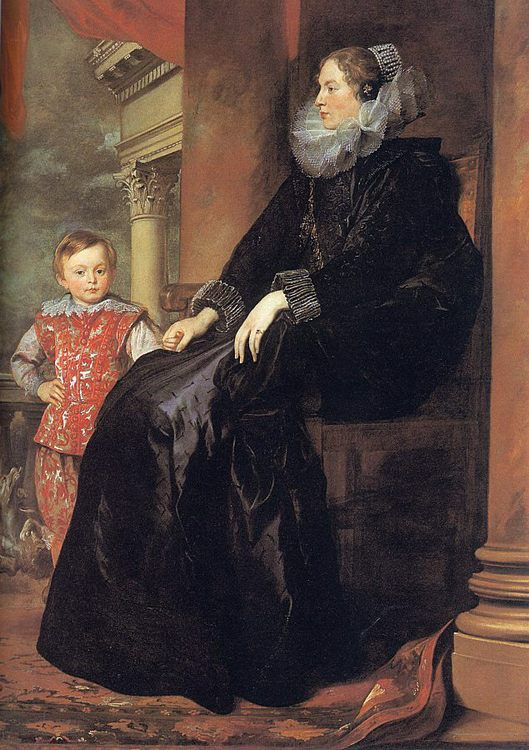 Genoese Noblewoman with her Son :: Sir Antony van Dyck  - Woman and child in painting and art фото