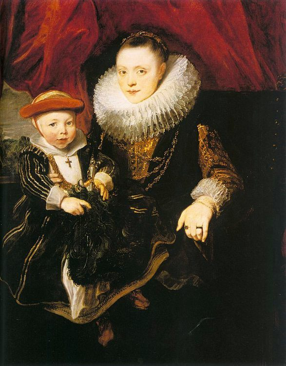 Young Woman with a Child :: Sir Antony van Dyck  - Woman and child in painting and art фото