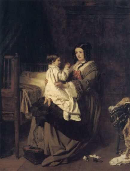 When we devote our youth to God, when offered in the bud, is no vain sacrifice. :: William Powell Frith  - Woman and child in painting and art ôîòî