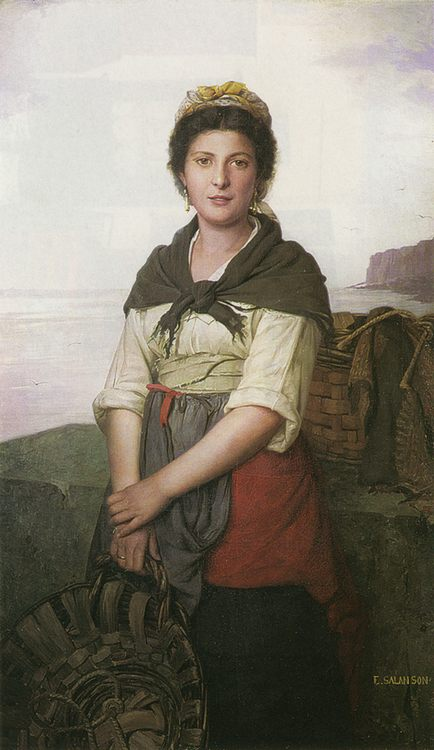 Fisherwoman :: Eugenie Marie Salanson - 7 female portraits ( the end of 19 centuries ) in art and painting ôîòî