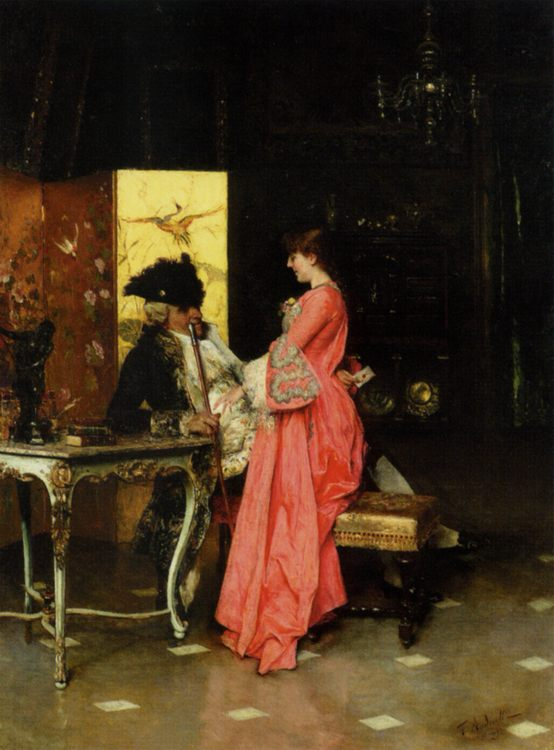 The Secret Letter :: Federico Andreotti - Romantic scenes in art and painting фото