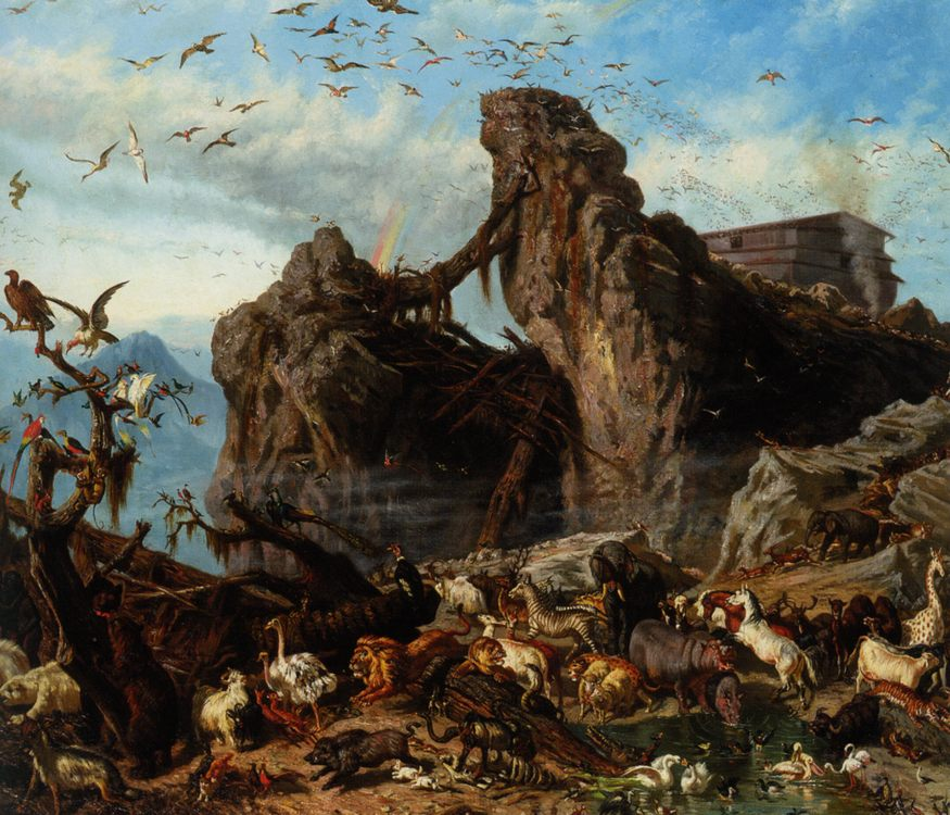 After The Flood :: Filippo Palizzi - Bible scenes in art and painting фото