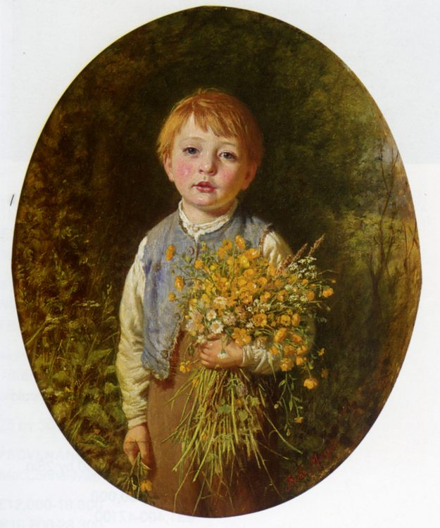 The Flower Gatherer :: Frederick Morgan - Portraits of young boys фото