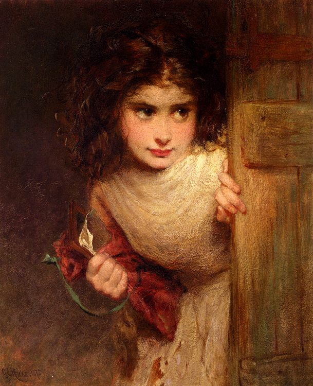Home From School :: George Elgar Hicks - Portraits of young girls in art and painting ôîòî