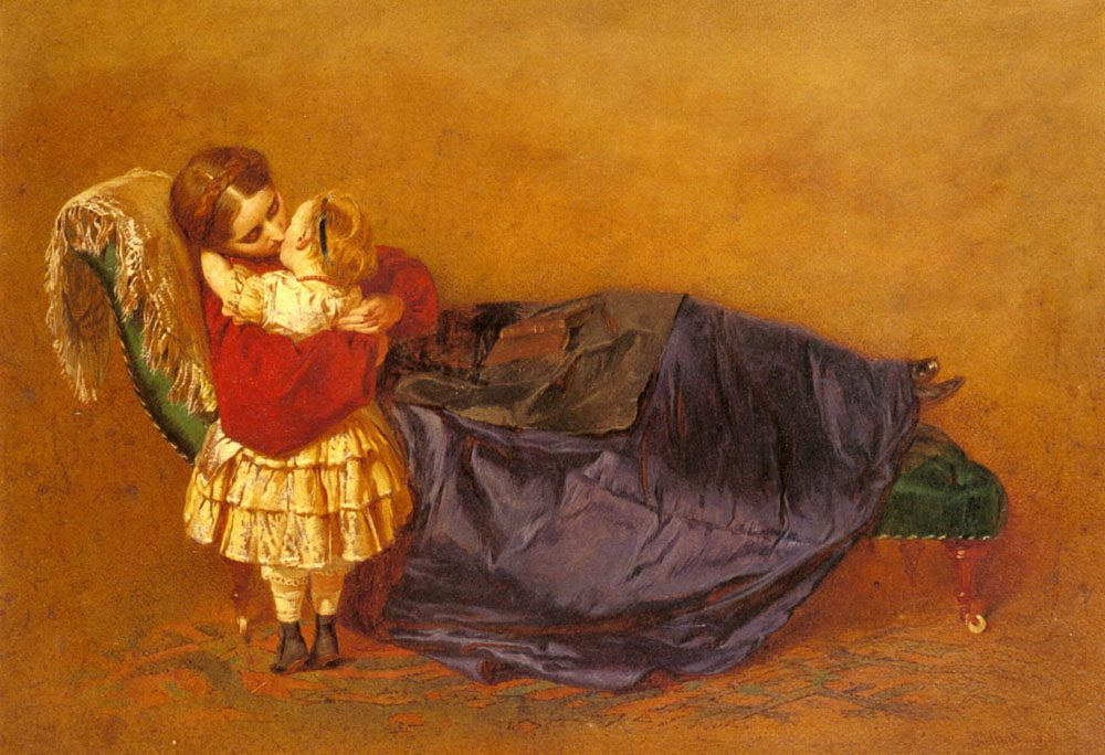 Mother and Child :: George Elgar Hicks - Woman and child in painting and art фото