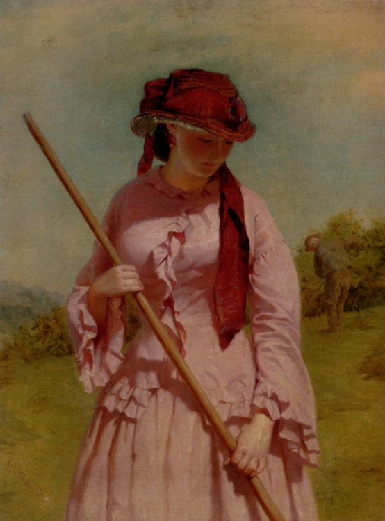 The Farmer's Daughter :: George Elgar Hicks - village life фото