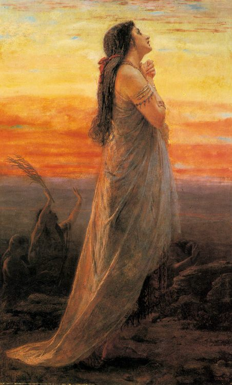 The Lament of Jephthah's Daughter :: George Elgar Hicks - Bible scenes in art and painting фото