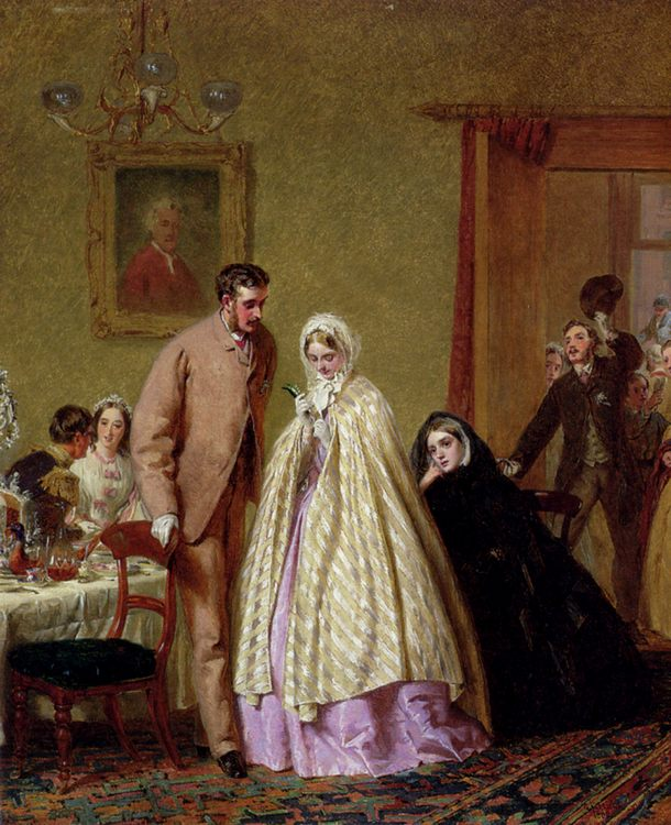 The Wedding Breakfast  :: George Elgar Hicks - Wedding scenes фото