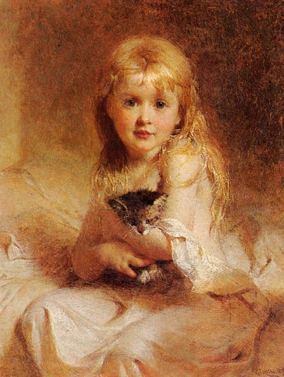 Young Companions :: George Elgar Hicks - Portraits of young girls in art and painting фото