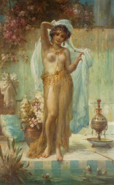 Dancing Beauty :: Hans Zatzka - Arab women ( Harem Life scenes ) in art  and painting фото