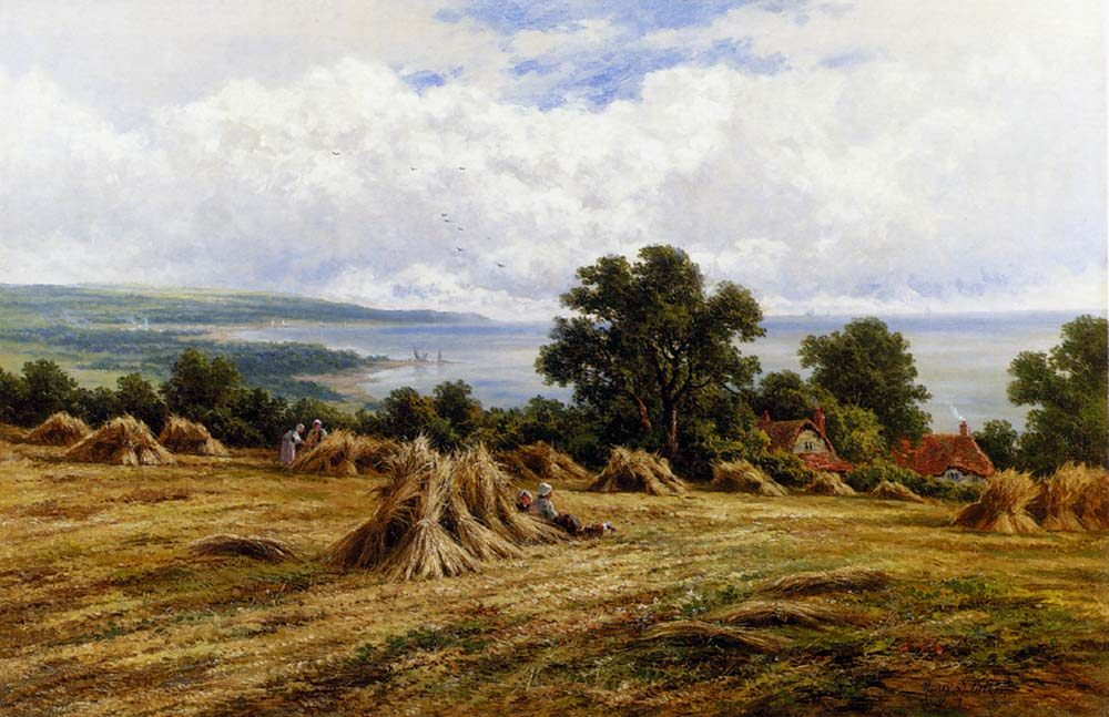 Harvesting By The Sea :: Henry Hillier Parker - Coastal landscapes ôîòî