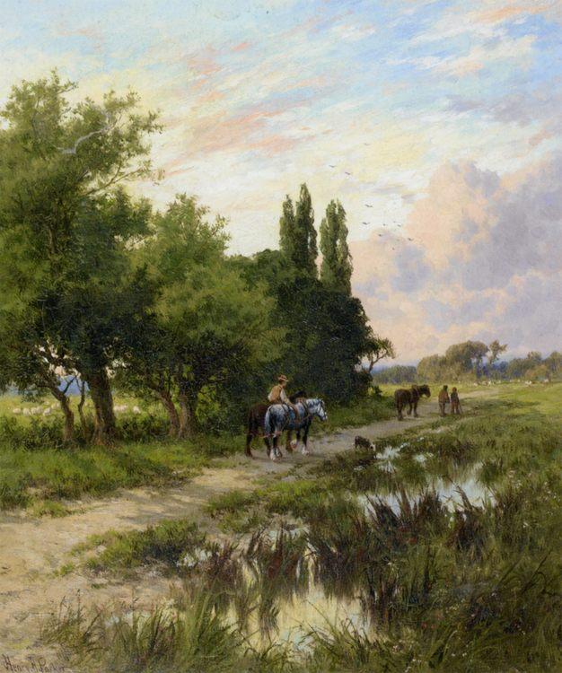 Homewards :: Henry Hillier Parker - Horses in art ôîòî