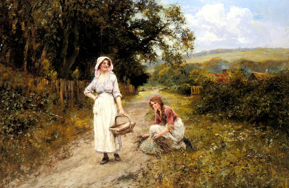 Faggot Gatherers on a Path :: Henry John Yeend King - Village life ôîòî