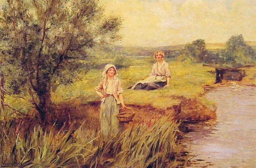 The Rush Gatherers :: Henry John Yeend King - Village life ôîòî