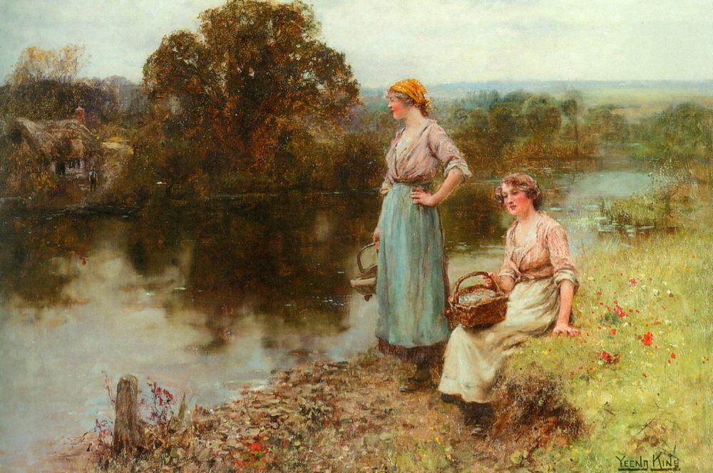 Waiting for the Ferryman :: Henry John Yeend King - Village life ôîòî