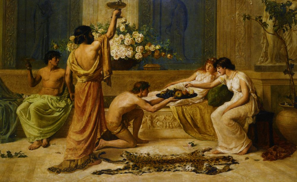 The Banquet :: Henry Thomas Schafer - Antique world scenes фото