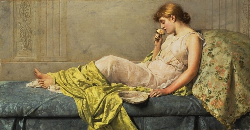 The Boudoir Rose :: Henry Thomas Schafer - Antique beauties in art and painting фото
