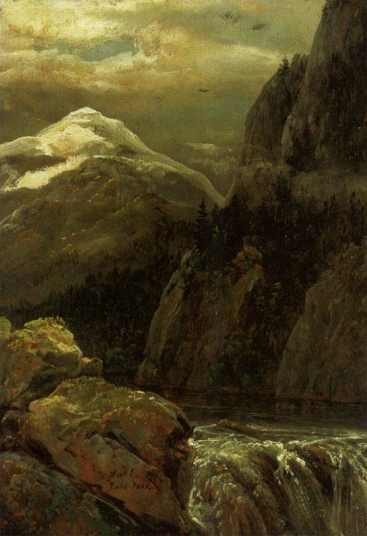 Nordic Landscape :: Johan Christian Clausen Dahl - Mountain scenery фото