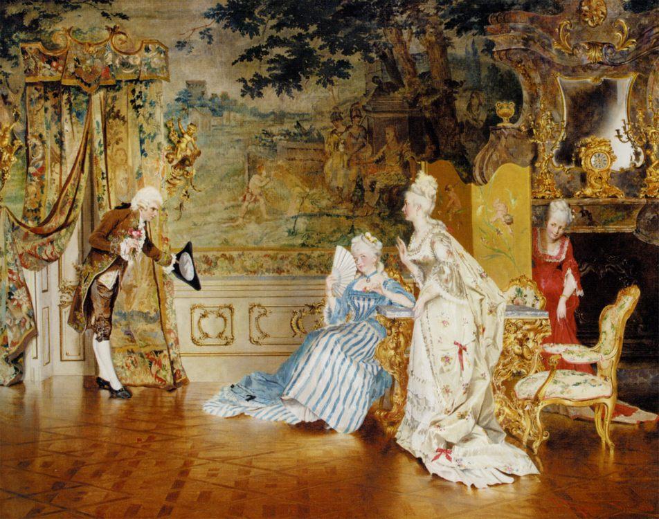 The Admirer :: Johann Hamza - Romantic scenes in art and painting ôîòî