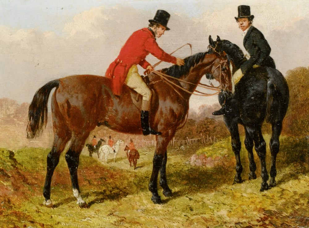 At the Meet  :: John Frederick Herring - Horses in art фото