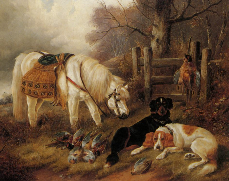The End of a Days Sport :: John Gifford At - Hunting scenes ôîòî